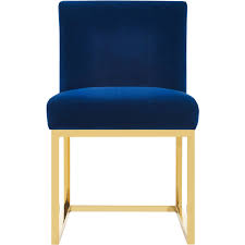 Gold Accent Chair Tov Furniture Tov D44 Haute Accent Chair In Navy Velvet On Gold