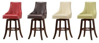 buy brooks swivel bar stool in green color by steve silver from