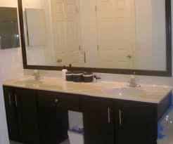 Large Bathroom Mirror Frames Large Bathroom Mirror No Frame In Arresting Light Bulbs Fixtures