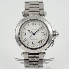 stainless steel cartier bracelet images Cartier pasha 35mm stainless steel bracelet white dial automatic jpg