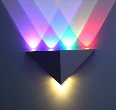 pattern wall lights 5w triangle led wall light sconces mirror l backlight decorative