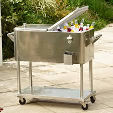 Outdoor Cooler Cart On Wheels by Outdoor Ice Chest Stainless Steel Ideas