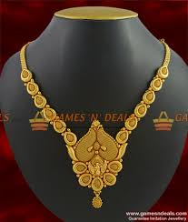 fashion necklace gold images Nckn264 handmade peacock imitation necklace gold plated matt jpg