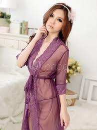 robe de chambre en mini robe de chambre en acrylique violete translucide milanoo com