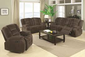 Recliner Fabric Sofa Coaster Brown Motion Reclining Sofa With Casual Style