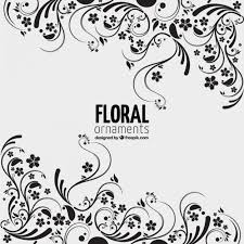 floral ornaments background vector free