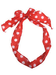 red and white spot hair scarf red spotty hair bow