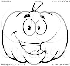 happy halloween pumpkin clipart cartoon of an outlined happy smiling halloween pumpkin royalty