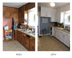 Kitchen Before And After by Kitchen Before And After Storm Cloud By Sherwin Williams Paint