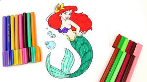 disney princess coloring book mermaid ariel colouring