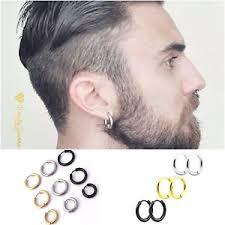 earrings mens 1 x unisex huggie hoop nose earrings jewellery ear snap