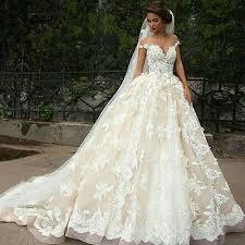 cinderella wedding dress shoulder princess lace bridal gown cinderella