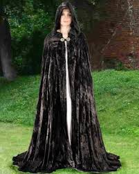 ritual robes and cloaks cloak black velvet renaissance midnight pagan