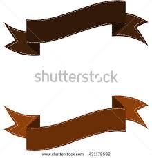 brown ribbon brown ribbon set stock vector illustration stock vector 431178592