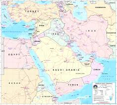 Biblical Map Of The Middle East by