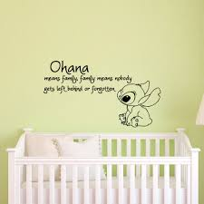 Wizard Of Oz Wall Stickers Ohana Means Family Means Nobody Get Left Behind Or Forgotten