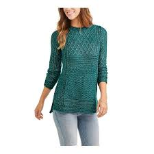 faded s plated tunic sweater walmart
