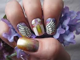freehand cloud design nail art tutorial angel wings nail art tutorial youtube