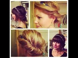 hair tutorial easy vintage hairstyle headband tuck