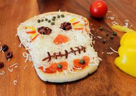 healthy day of the dead sugar skull fruit pizza growing up bilingual