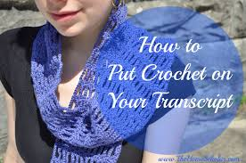 resume exles skills section beginners knitting scarf how to put crochet on your transcript