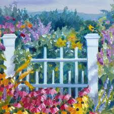 janet zeh original art watercolor and oil paintings garden