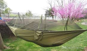 camping hammock with mosquito net travel jungle 2 person patio bed