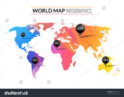 World Map Wallpaper by Colorful Vector Watercolor World Map Infographics Stock Vector