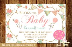 Invitation Card Baby Shower Baby Shower Invitations Bring A Book Instead Of Card Festival