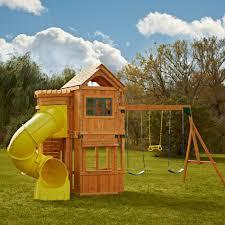 best quality swing n slide oakmont wood complete play