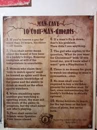 Man Cave Meme - found these man cave rules in the bathroom of my local bar meme guy