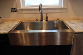 modern kitchen furniture ideas decorating rectangle silver apron sink plus black faucet before