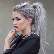 grey hairstyles for young women various styles of trendy latest ponytail hairstyles for girls
