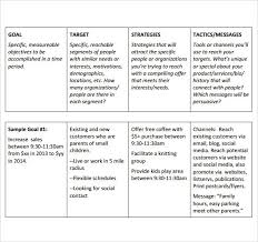 sales and marketing plan template best template idea