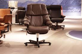 Stressless Reno Paloma chocolate Leather office Chair