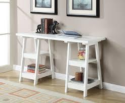 Trestle Computer Desk Charlton Home Schererville Double Trestle Ladder Desk U0026 Reviews