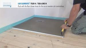 how to install a shower base on a wooden floor home design ideas