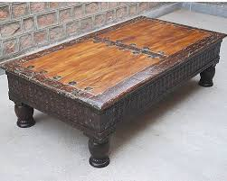 Carved Coffee Table Coffee Table Rustic Reclaimed Wood Carved Cocktail Sofa Rare