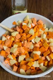 roasted cinnamon spiced butternut squash sweet potatoes u0026 apples