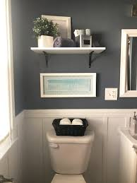Shelves In Bathrooms Ideas by Goodbye Pine Cabinets Grey Bathrooms Batten And Board