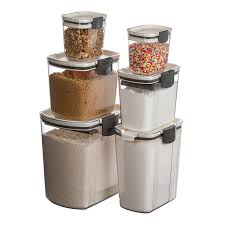 Glass Kitchen Canisters Amazon Com Prepworks By Progressive 6 Piece Prokeeper Set