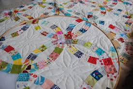 Wedding Ring Quilt by Double Wedding Ring Quilt The Hand Quilting Is Slow In Pro U2026 Flickr