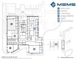 emergency room floor plan metropolitan emergency medical services mems headquarters