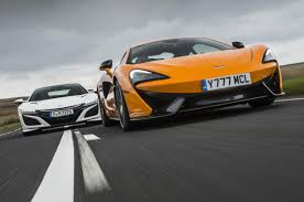 honda supercar video review honda nsx v mclaren 570s london evening standard