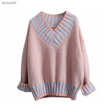 warm womens sweaters warm thicken sweater autumn winter vintage v neck color