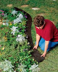 rubber landscape edging recycled rubber gardener u0027s supply