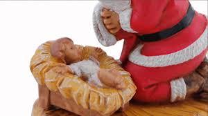 santa kneeling at the manger fontanini kneeling santa figure