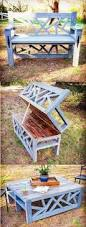 Building A Garden Bench Seat Our Cynder Block Bench Added Ikea Patio Flooring And A Couple Of