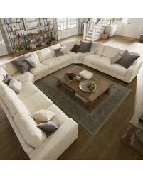 Best Deals On Sectional Sofas Find The Best Deals On Lionel White Cotton Fabric Filled U
