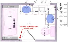 bathroom lighting code requirements bathroom light switch question internachi inspection forum